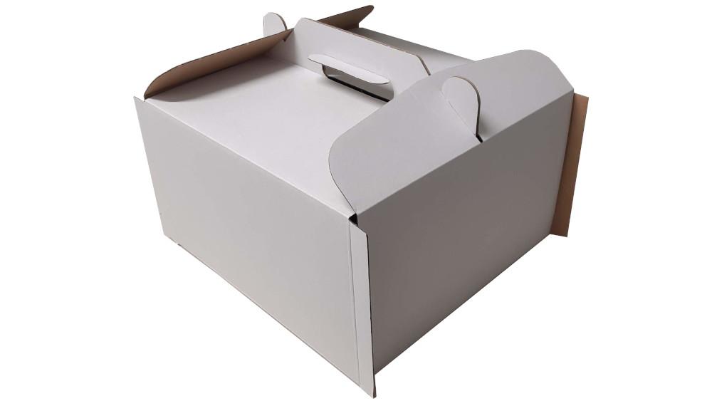 Torta doboz és alátét (19cm x 19cm)